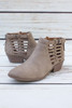 Gwendolyn Light Taupe Cut Out Ankle Bootie