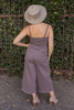 Midnight Madness Overall Button Down Jumpsuit with Pockets back view.