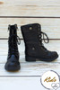 Mia Black Lace Up Children's Boots