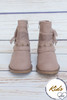 Angelica Taupe Studded Children's Booties
