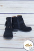 Angelica Black Studded Children's Booties