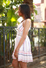 Spring Fling Off White Striped Lace Sundress side view.