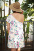 Natural Beauty Floral One Shoulder Ruffle Dress back view.
