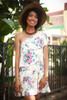 Natural Beauty Floral One Shoulder Ruffle Dress front view.