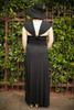 Versatile Style Multi-Way Maxi Dress in Black back view (Deep V Butterfly Back).