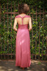 Versatile Style Multi-Way Maxi Dress in Brick back view (Queen Anne Twist Back).