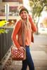 Rachel Elise Rust Bowtie Courier Bag