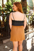Easy Does It Caramel Button Down Skirt back view.