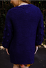 Pom Pom Power Ink Open Front Knit Sweater back view.