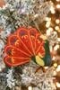 Silk Road Bazaar Red Peacock Ornament