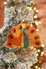 Silk Road Bazaar Orange Peacock Ornament