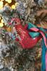 C&F Home Boho Pink Painted Bird Ornament