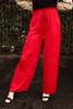 Crimson Class Flowing Wide Leg Pants front view.