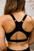 Activated Athletics Black Cut Out Racerback Sports Bra