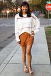 Butterscotch Waffle Knit Shorts