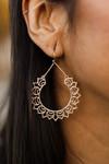 Mandala Earrings in Gold