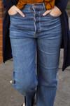 Medium Wash High Waisted Dad Jeans