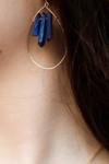 Blue Crystal Tear Drop Earrings