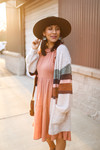 The Evelyn Ray Striped Color Block Cardigan