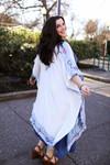 The Ada Marie Colorful Stitch Tapestry Kimono back view.