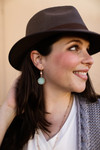 The Ellen Kay Natural Faceted Stone Drop Earrings in Amazonite