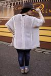 The Ellen Kay Braided Knit Ruana