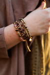 The Rosie Jo Mixed Bead Bracelet Set in Brown