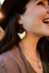 The Rosie Jo Gold Dipped Leather Teardrop Earrings