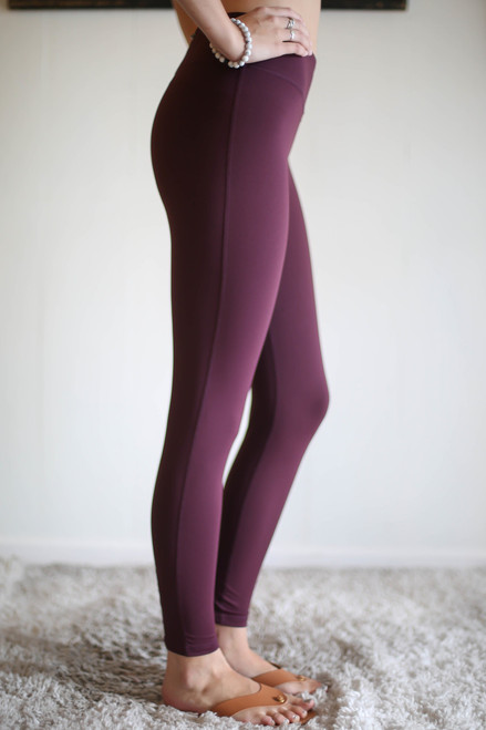 Activated Athletics Magenta Lattice Leggings with Pocket side view.