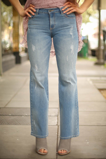 Denim to Die For Vintage Distressed Jeans frotn view.
