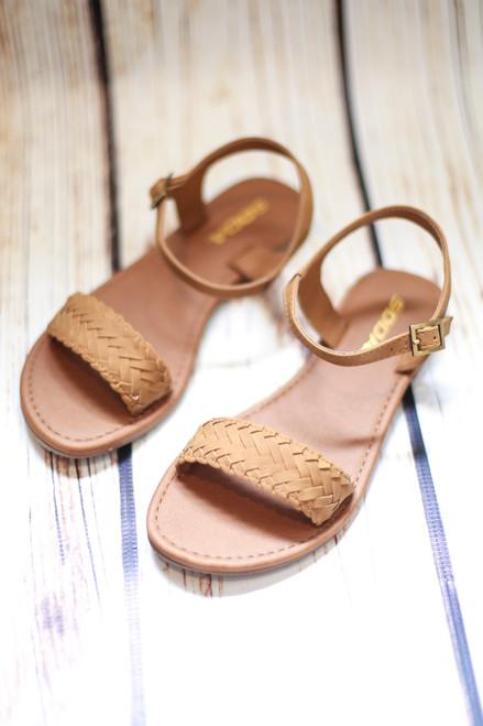 Margaret Braided Tan Sandals