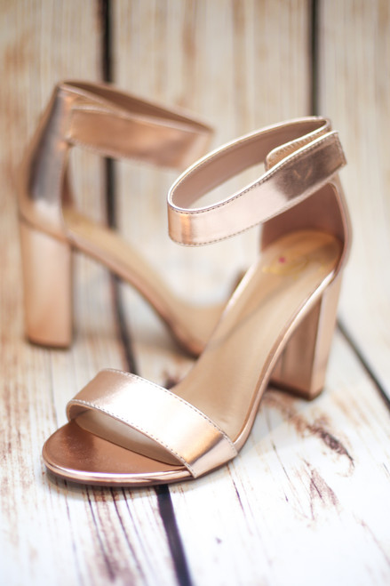 fc72b23b4e74 Alice Rose Gold Chunky Platform Heel with Ankle Strap