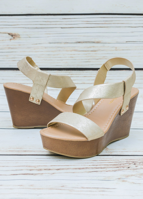 Skye Natural Strappy Platform Wedge