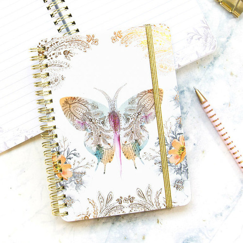Paisley Butterfly Mini Decorative Notebook Cover