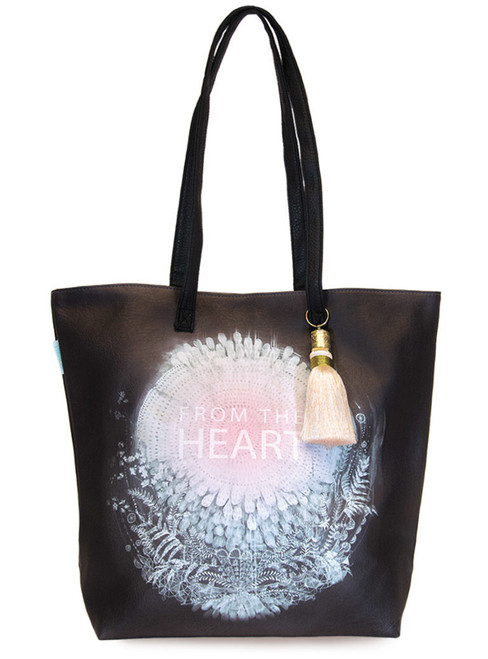 Papaya From the Heart Bucket Tote