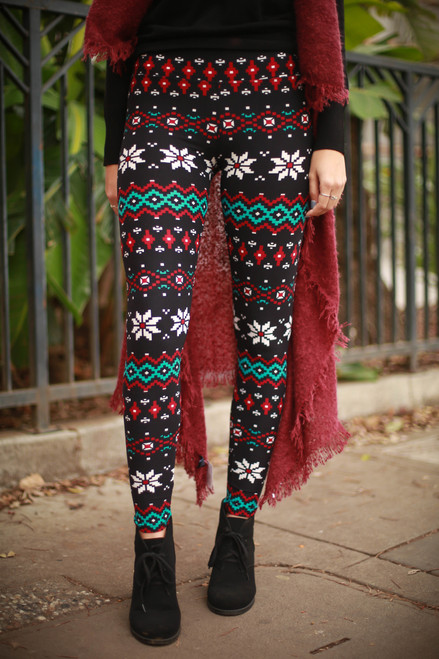 Geometric Snowflake Super High Waist Butter Soft Leggings