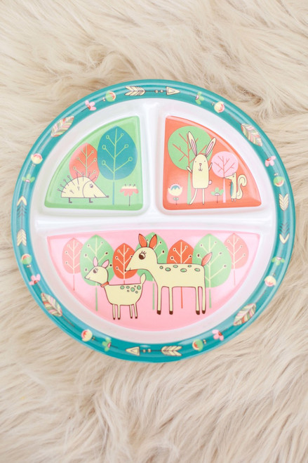 Sugarbooger Baby Deer Divided Suction Plate flat view.
