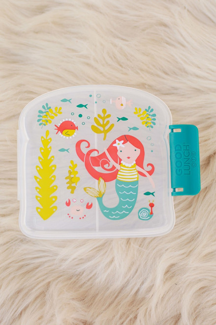 Sugarbooger Isla the Mermaid Good Lunch Sandwich Box top view.