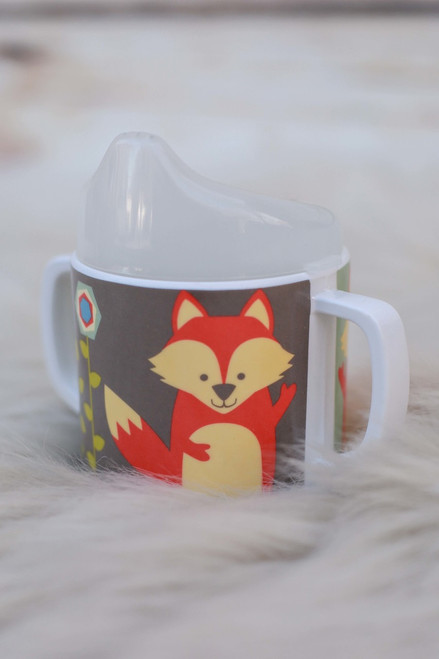 Sugarbooger What Did the Fox Eat Sippy Cup standing view.