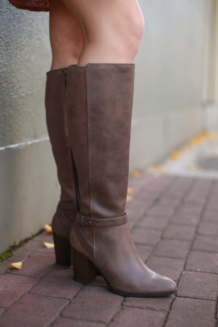 Alaina Brown Knee High Boots