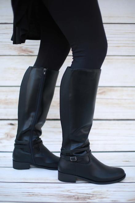 Jenna Black Knee High Riding Boots