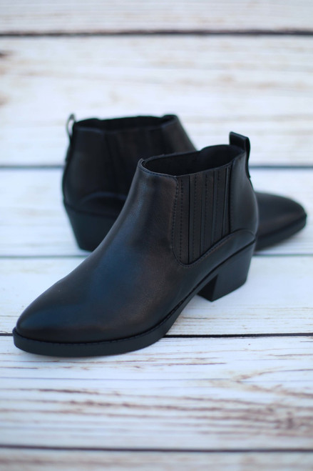 Delilah Black Ankle Booties