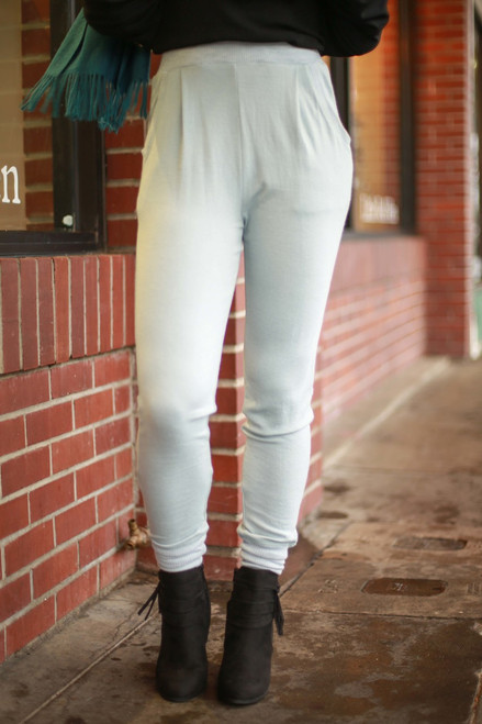Styled Comfort Warm Blue Joggers front view.