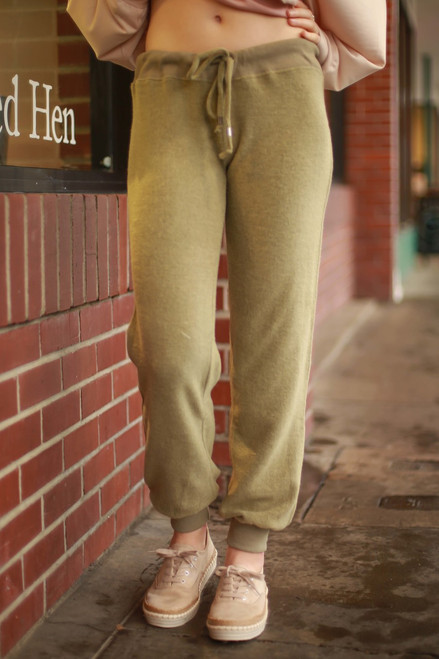 Brushed Bliss Faded Olive Sweatpants