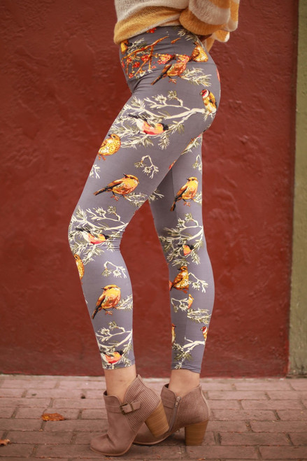 First Signs of Spring Super High Waist Butter Soft Leggings side view.