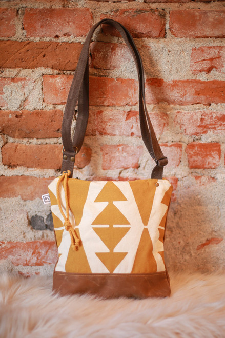 Rachel Elise Mustard Casita No. 2 Weekdayer Bag front view.