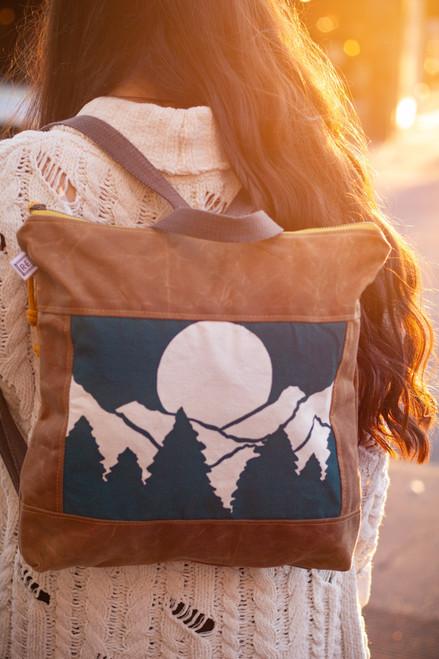 Rachel Elise Forest Vista Bucket Backpack