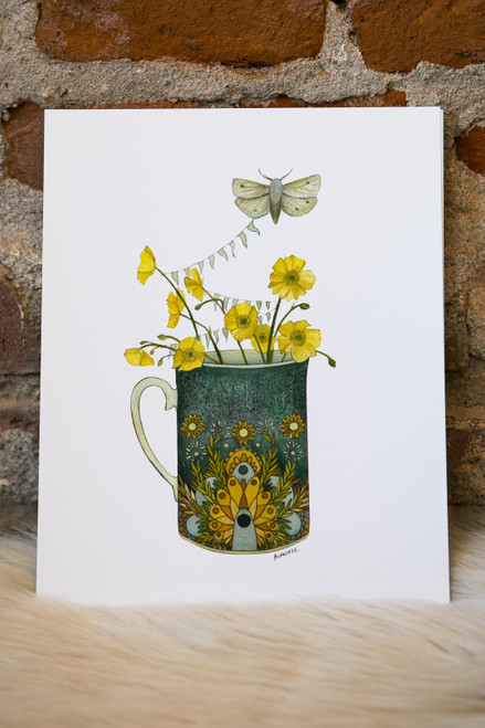 "Polanshek of The Hills  Collector Cups: ""The Moth"" Greeting Card"