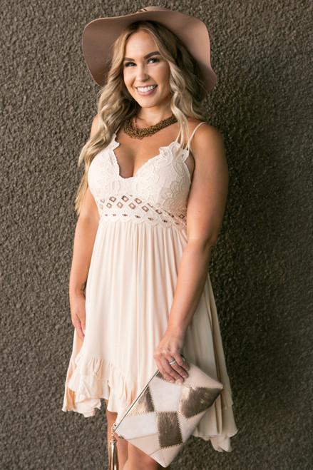 Charming Elegance Dress in Blush