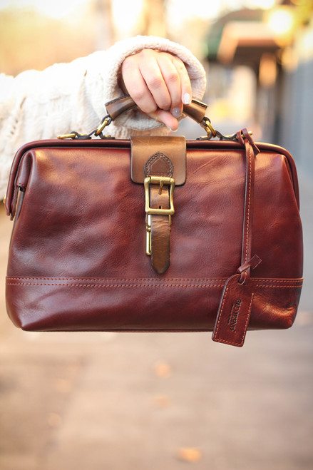 Old Trend Eco Genuine Leather Doctor Satchel in Brown